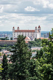 Bratislava castle in capital city of Slovakia, architectural the Stock Images