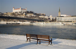 Bratislava - castle and cathedral Stock Photography