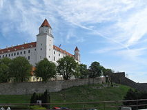 Bratislava castle. Is a collection of buildings in the historic area, which occupies the top of a hill on the south-western promontory of the Small Carpathian royalty free stock photos