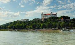 Bratislava Castle and Danube river Stock Images
