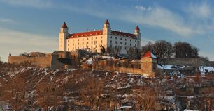 Bratislava castle - detail Stock Image
