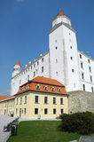 Bratislava castle. Exterior of Bratislava castle with blue sky background, Slovakia royalty free stock photography