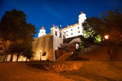 Bratislava castle fortifications Stock Photos