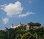 Bratislava Castle (founded in IX c.). Bratislava, Slovakia. Bratislava Castle (Hrad, founded in IX c.). Sigismund Gate (circa XV c.) and the Palace (circa XVIII Stock Image