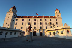 Bratislava castle - front view Royalty Free Stock Photos