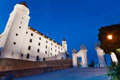 Bratislava castle and gates Stock Photography