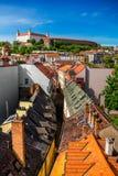 Bratislava castle hill stock image