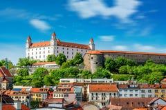 Bratislava castle hill royalty free stock photos