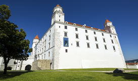 Bratislava Castle is the main ancient royalty free stock photography