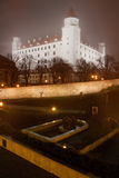 Bratislava castle in the mist Stock Photos