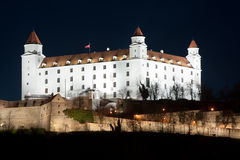 Bratislava castle at night Stock Image