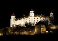 Bratislava castle at night Royalty Free Stock Photos