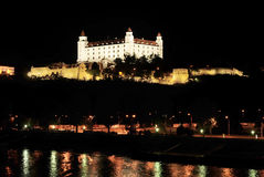 Bratislava Castle at night Stock Photography