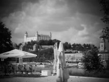 Bratislava Castle - is one of the most visited castles in Slovakia. Very nice place for relax royalty free stock photography