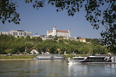 Bratislava - castle and parliament Royalty Free Stock Image