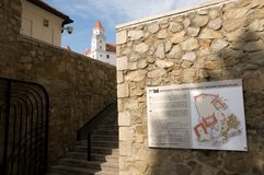 Bratislava Castle - plan of the castle Royalty Free Stock Photos