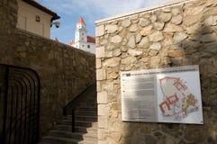 Bratislava Castle - plan of the castle royalty free stock photos