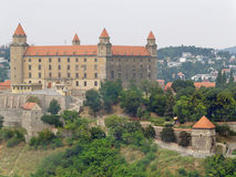 Bratislava Castle before reconstruction royalty free stock image
