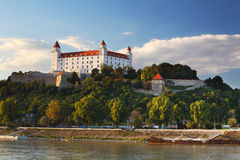 Bratislava castle and river Danube Stock Photo
