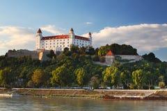 Bratislava castle and river Danube Stock Photo
