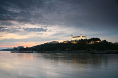 Bratislava castle and river Danube. Royalty Free Stock Images