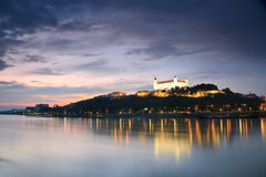 Bratislava castle and river Danube. Stock Photography