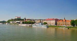 Dunabe quay. Bratislava. Slovakia. Stock Images