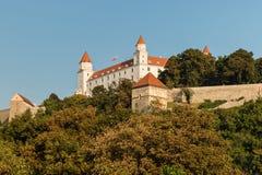 Bratislava Castle in Slovak Republic. Against blue sky Royalty Free Stock Photography