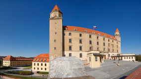 Bratislava Castle, Slovakia (Panoramic View) Royalty Free Stock Images