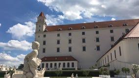 Bratislava castle Slovakia stock footage