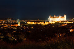 Bratislava castle and St. Martin's cathedral Stock Image