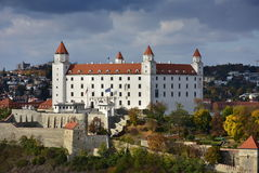 Bratislava castle before storm. Stock Photography