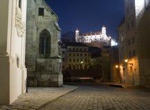 Bratislava - castle from the town Stock Photos