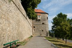 Bratislava Castle - walls - Slovakia Stock Photo