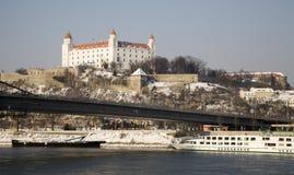 Bratislava - castle in winter Stock Images