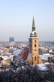 Bratislava - catedral no inverno Imagem de Stock Royalty Free