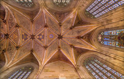 Bratislava - Ceiling of presbytery in  st. Martin cathedral from 15. cent. Stock Photography