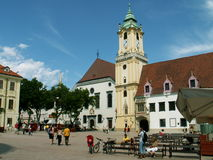 Bratislava central square Royalty Free Stock Photos