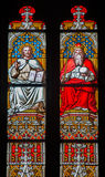 Bratislava - Christ and God the Father on windowpane in st. Martin cathedral. Stock Photography