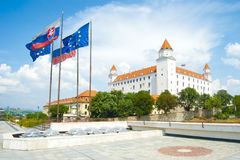Bratislava city castle Royalty Free Stock Images