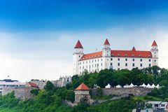 Bratislava city castle Royalty Free Stock Photos