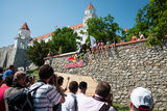 Bratislava City Downhill 2013 Royalty Free Stock Photo