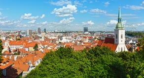 Bratislava City spring view (Slovakia) Stock Images
