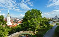 Bratislava City spring view (Slovakia) Royalty Free Stock Photos