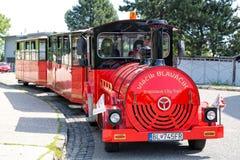Bratislava City Train on the street in Bratislava, in Slovakia Royalty Free Stock Image