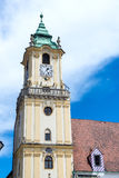 Bratislava city - view of Old Town Hall from Main Square Royalty Free Stock Images