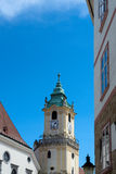 Bratislava city - view of Old Town Hall from Main Square Stock Images