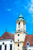 Bratislava city - view of Old Town Hall from Main Square Royalty Free Stock Photography