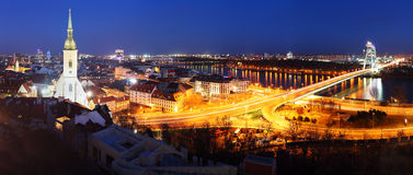Bratislava cityspace - panorama from castle. Slovakia royalty free stock images