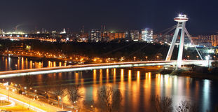 Bratislava cityspace - panorama from castle Royalty Free Stock Images